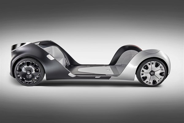 Mercedes-Benz Vans Vision URBANETIC Skateboard-Chassis